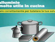 Campagna informativa sul corretto uso dell'alluminio in cucina